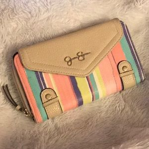 🎀 Jessica Simpson double striped wallet 🎀